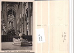 518446,Halberstadt Dom Kirche Innenansicht Taufbecken