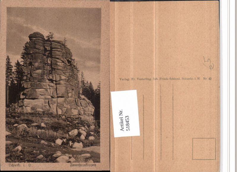 518453,Schierke im Harz Feuersteinklippen Klippe