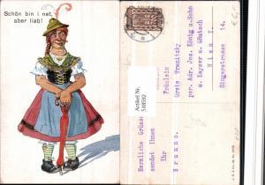 518592,Künstler AK Exzentriker Mann in Frauenkleider Humor
