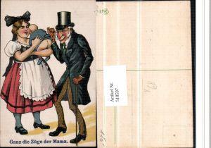 518597,Künstler AK Humor Baby Po Doktor Zylinder Hut Brille ganz die Mama