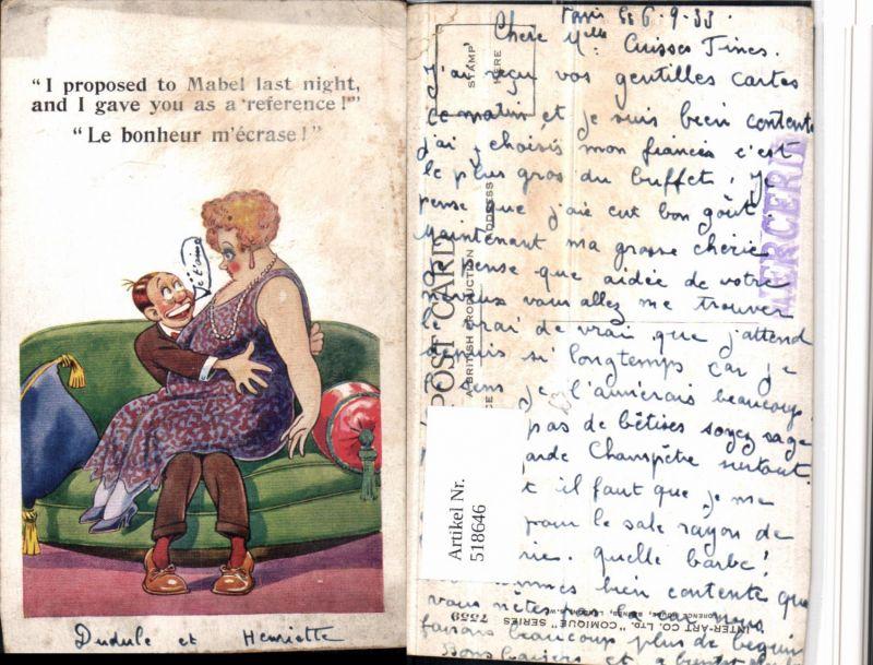518646,Künstler AK Humor Völlerei Übergewicht Liebe Paar Sofa