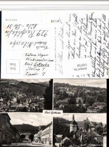 518758,Bad Gottleuba Totale Sanatorium Straße Kirche Mehrbildkarte