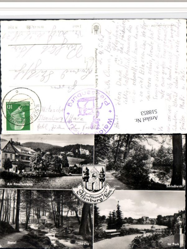 518853,Ilsenburg im Harz Forellenteich Park Ilsetal Mehrbildkarte