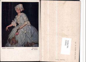 519561,tolle Simplicissimus Künstler AK Edith Barakovich Maskenball Frau Kleid Rosen
