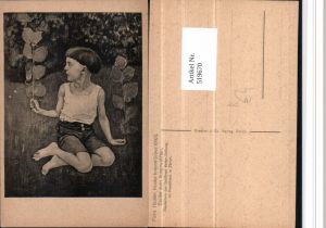 519670,Künstler AK Ferd. Hodler Knabe kniend Junge Bub