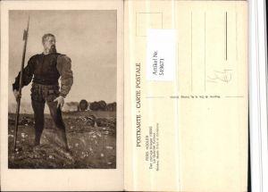 519671,Künstler AK Ferd. Hodler Der zornige Krieger Speer