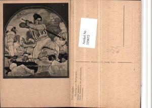 519672,Künstler AK Ferd. Hodler Rückzug von Marignano Schlacht