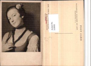 519826,Künstler AK Pietro Rotari Girl with flower in her hair Portrait