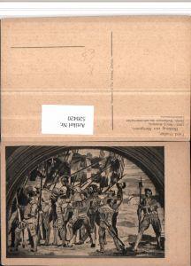 520420,Künstler AK Ferd. Hodler Rückzug von Marignano Krieger