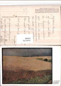 520446,Künstler AK V. Volkmann Wogendes Kornfeld Feld