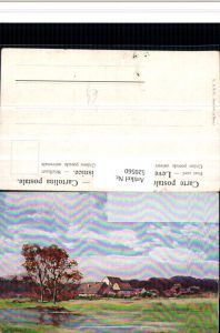 520560,Künstler AK Splitgerber Landschaft Häuser