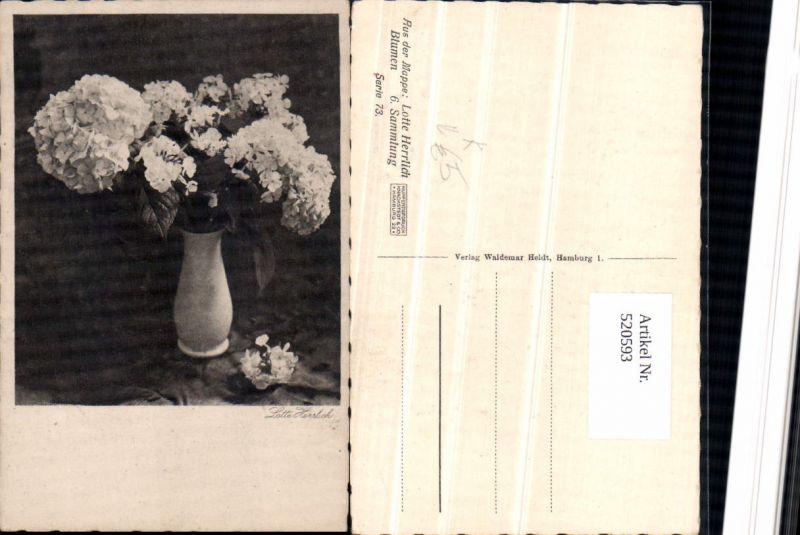 520593,Künstler AK Lotte Herrlich Blumen Vase