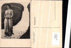 520595,Künstler AK Ferd. Hodler Abendruhe Frau Kleid Wegpartie