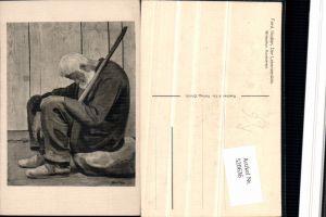520636,Künstler AK Ferd. Hodler Der Lebensmüde Mann Stock
