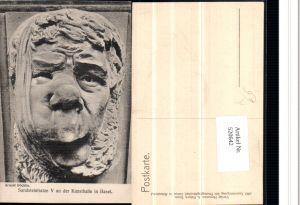 520642,Künstler AK Arnold Böcklin Sandsteinfratze V an der Kunsthalle in Basel