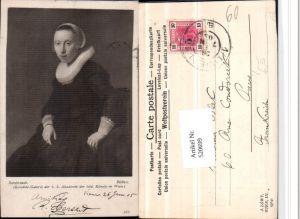 520699,Künstler AK Rembrandt Bildnis Frau Halskrause Portrait pub J. Löwy Wien