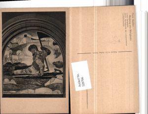 520766,Künstler AK Ferd. Hodler Rückzug von Marignano Verletzter Mann