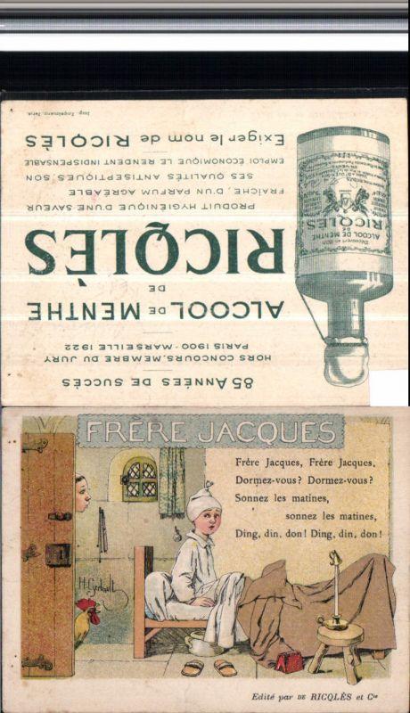 521007,Reklame Künstler AK H. Gerbault Alcool de menthe Ricqles Alkohol