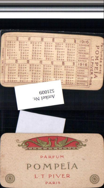 521009,Reklame Beleg Pompeia Pompei Parfum Piver Paris Kalender 1916