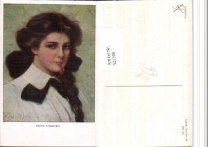 521109,M. Munk Vienne 832 Künstler Clarence F. Underwood Kirsche Frau Portrait