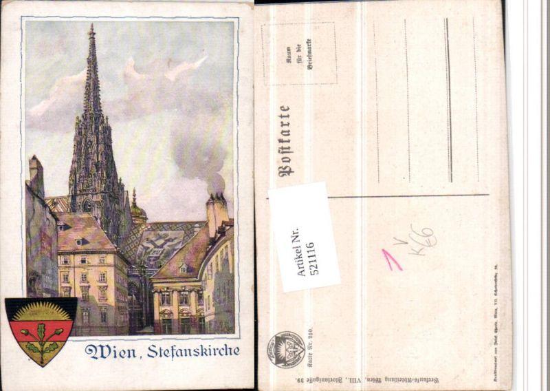 521116,Deutscher Schulverein 210 Künstler A. Reckziegel Wien Stefanskirche Dom