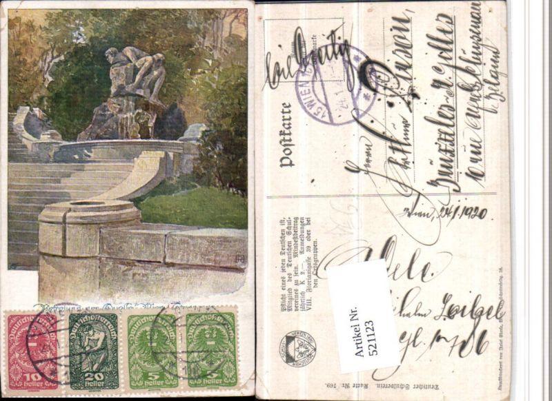 521123,Deutscher Schulverein 769 Künstler A. Reckziegel Quelle Brunnen Stiege