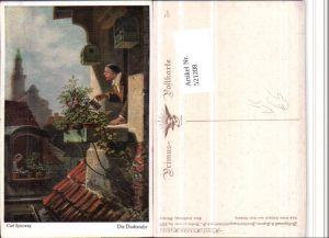 521208,Primus AK 5177 Künstler Carl Spitzweg Dachstube Gießkanne