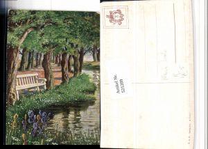 521209,Theo Stroefer 904 Künstler Maxim Trübe Landschaft Fluss Allee