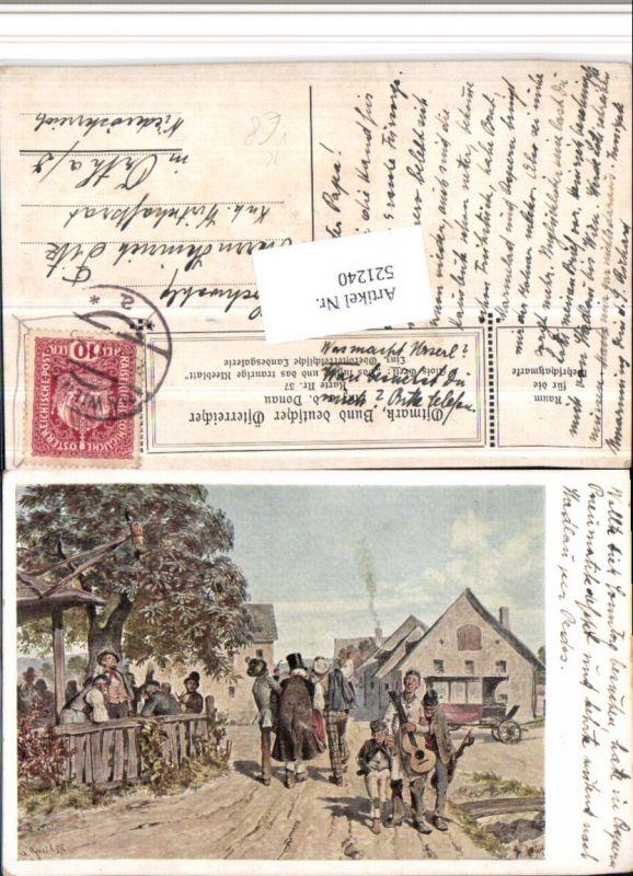521240,Bund Deutscher Österreicher 37 Künstler Alois Greil Lustige u. Traurige Kleeblatt