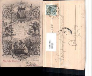 521889,Künstler AK Steirische Trachten Tracht Mehrbildkarte