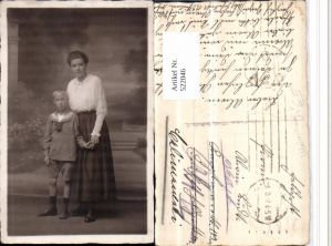 522046,Foto AK Mutter m. Kind Matrosenanzug pub Paulsen Lübeck