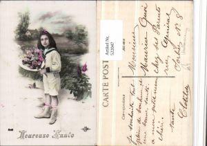 522047,Kind Uniform Matrosenanzug Blumenstrauß