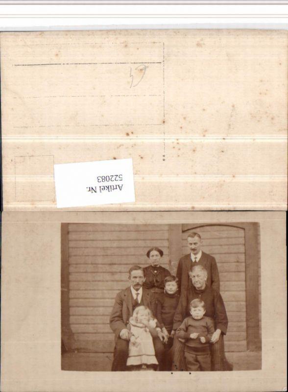 522083,Foto AK Familie Kinder Gruppenbild