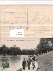 522084,Paris Bois de Boulogne Bord du Lac Gruppen Gehstock Schirme