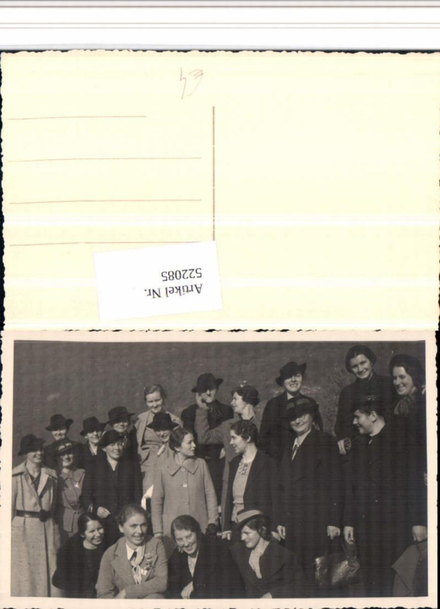 522085,Foto AK Gruppe Gruppenbild Hüte