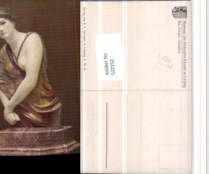 522152,Künstler AK Max Klinger Kassandra Statue Erotik