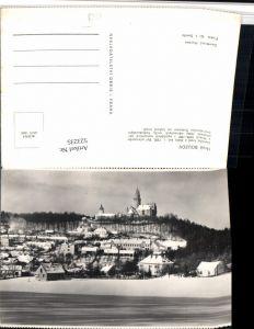 523235,Hrad Bouzov Busau Teilansicht m. Burg Winterbild