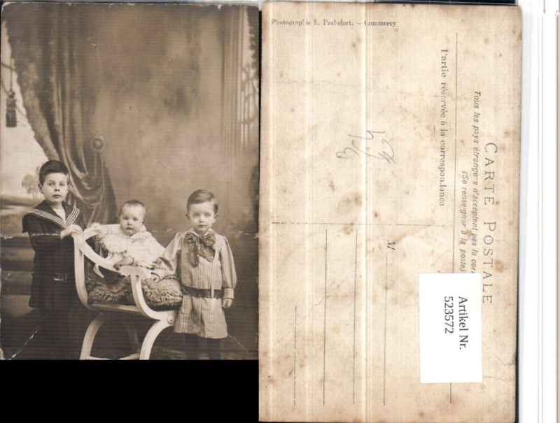 523572,Kinder Stuhl Thonet Matrosenanzug Uniform pub Pachelart Commercy