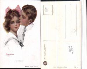523576,Künstler AK Philip Boileau His first love Matrosenanzug Mädchen pub Reint