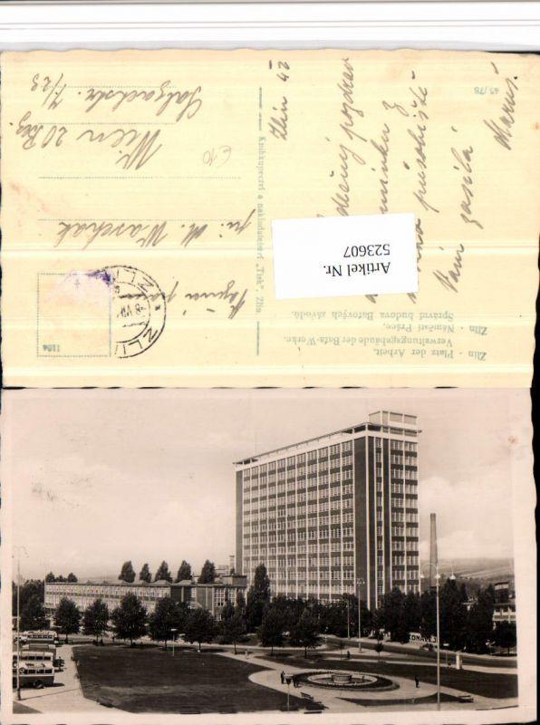 523607,Zlin Namesti Prace Platz der Arbeit Bata-Werke Verwaltungsgebäude