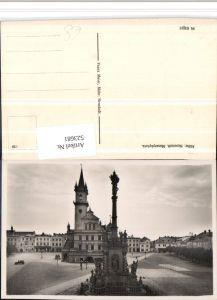 523681,Mährisch Neustadt Unicov Masarykplatz Rathaus Säule