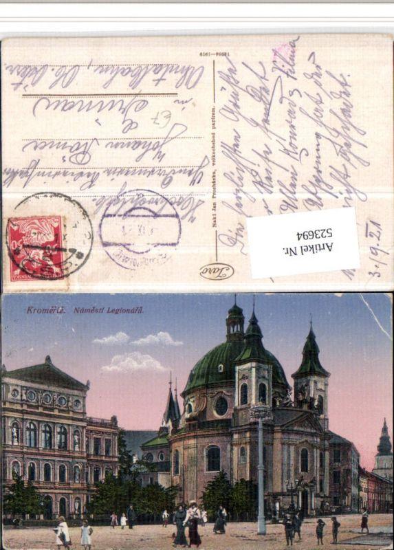 523694,Kromeriz Kremsier Namesti Legionaru Platz Kirche