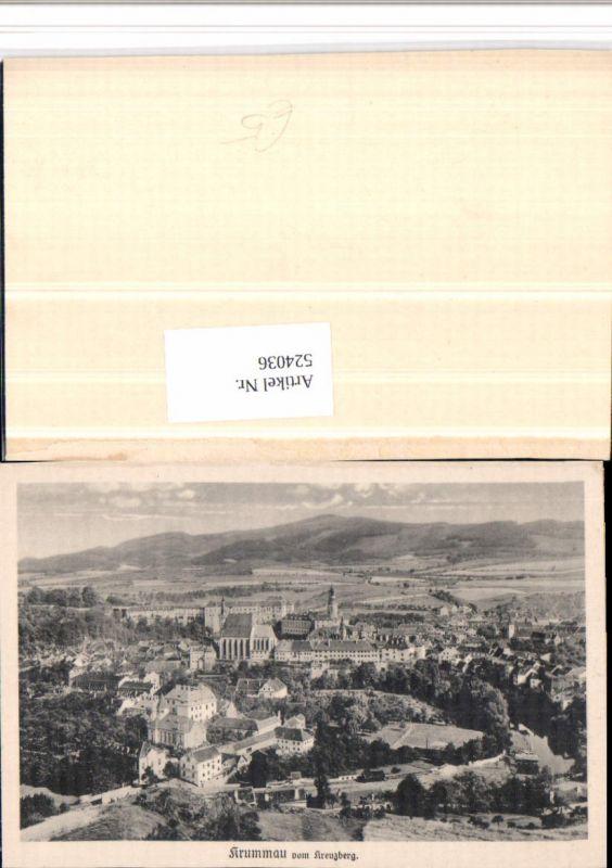 524036,Krummau Cesky Krumlov Totale vom Kreuzberg