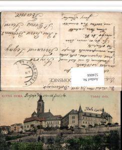 524066,Kutna Hora Kuttenberg Vlassky dvur Schloss Kirche