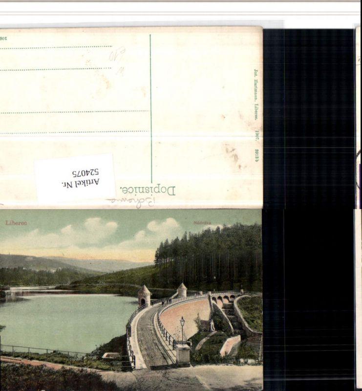 524075,Liberec Reichenberg Nadrzka Talsperre Damm