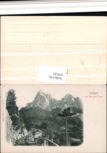 525233,Trentino Bolzano Schlern Weg nach Seis Seiss Siusi Kastelruth