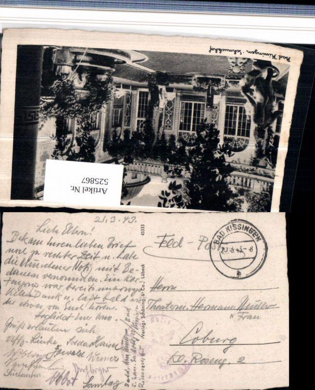 525867,WK 2 Feldpost Bad Kissingen n. Coburg 1943