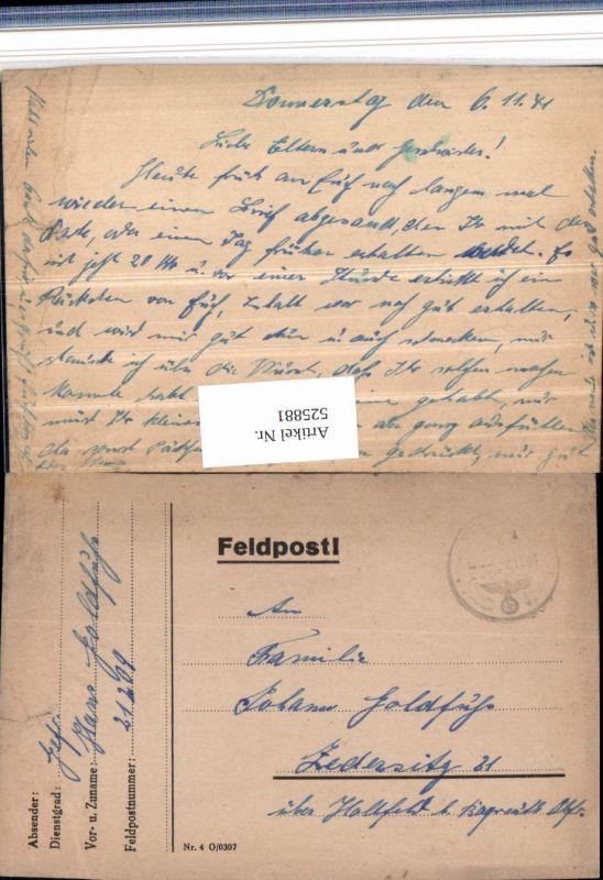 525881,WK 2 Feldpost 21209 n. Zedersitz Wonsees Hollfeld