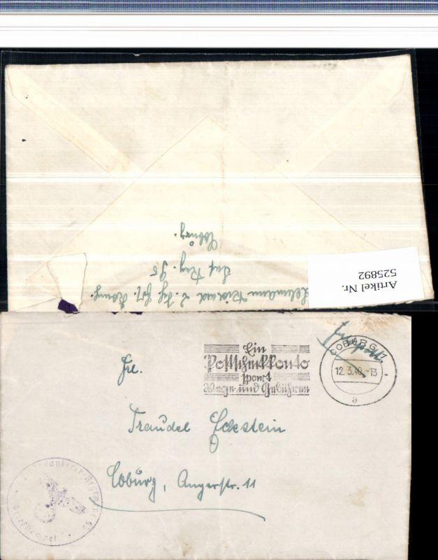 525892,WK 2 Feldpost Inf. Reg. 95 Coburg 1940