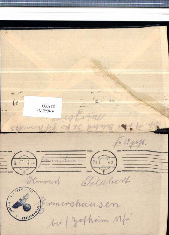 525903,WK 2 Feldpost Inf. Pionier Ers. Abt. 173 Würzburg Hermershausen Hofheim